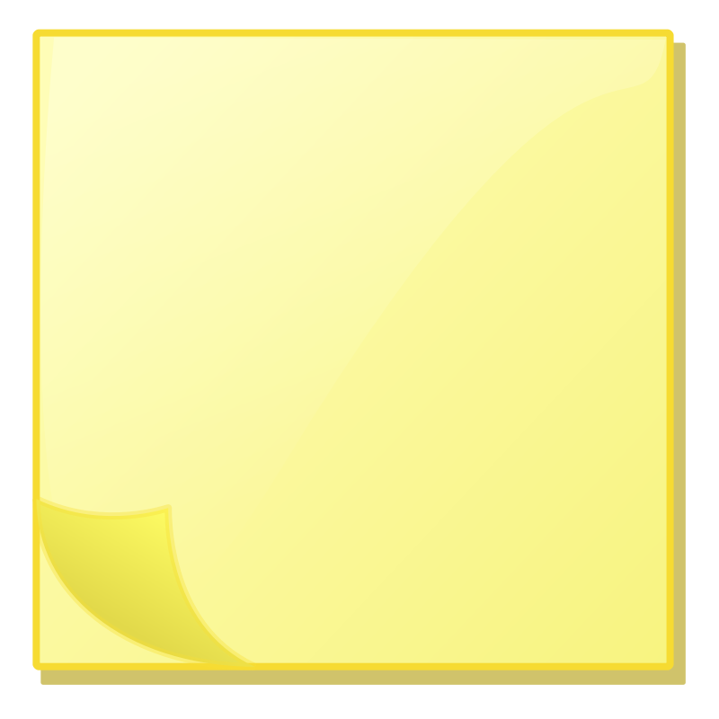 Clipart - Sticky Note Pad