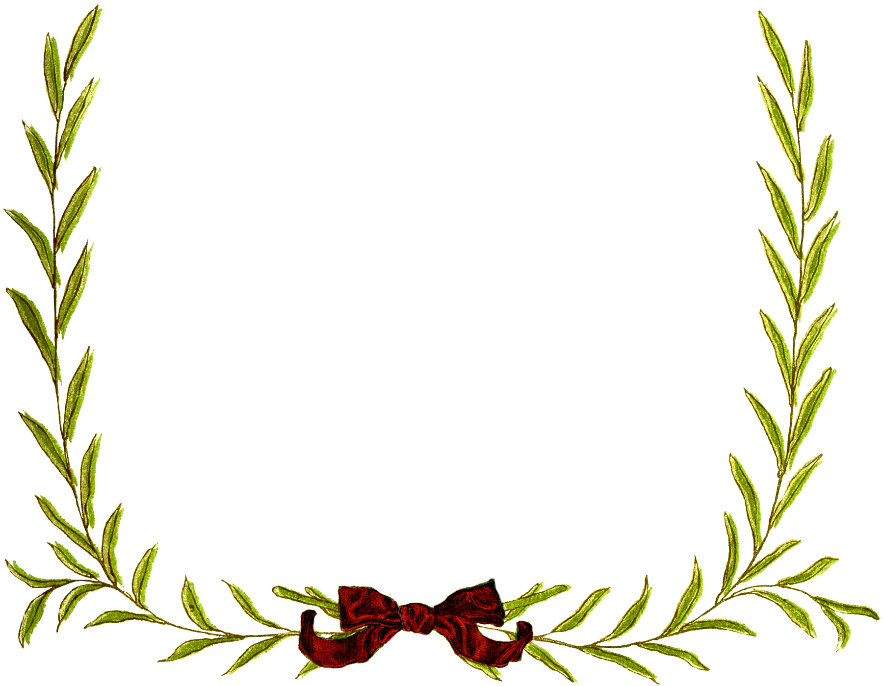 Simple Christmas Wreath Frame Images - The Graphics Fairy