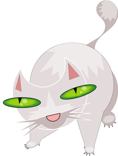 scary cat clipart free - photo #6