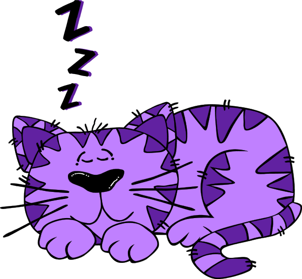 Cartoon Cat Sleeping - vector Clip Art