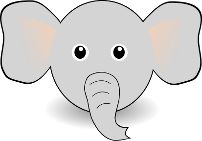 elephant face | Clipart Panda - Free Clipart Images