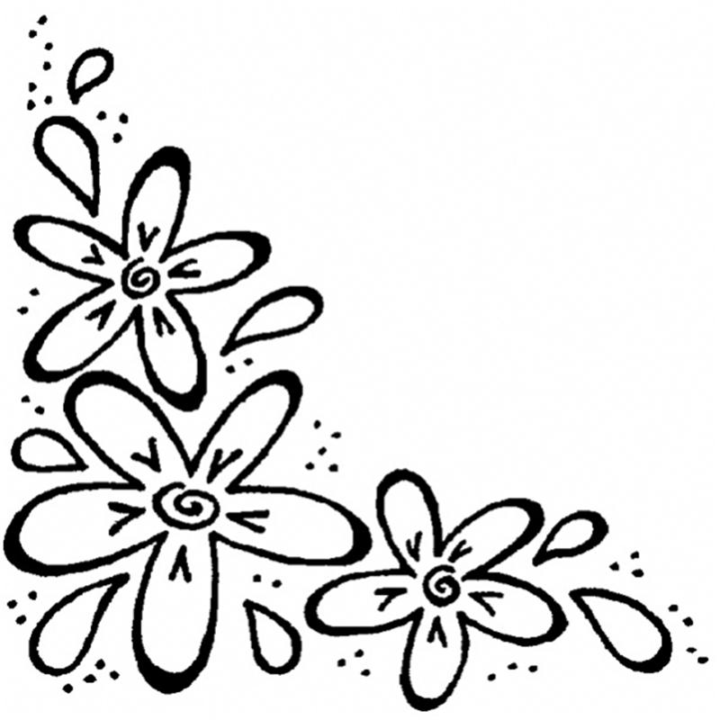 Line Art Flower Corner : Butterfly lineart cliparts