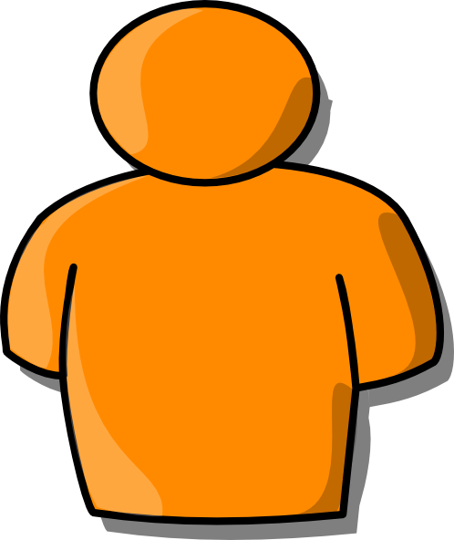 Orange Person clip art - vector clip art online, royalty free ...
