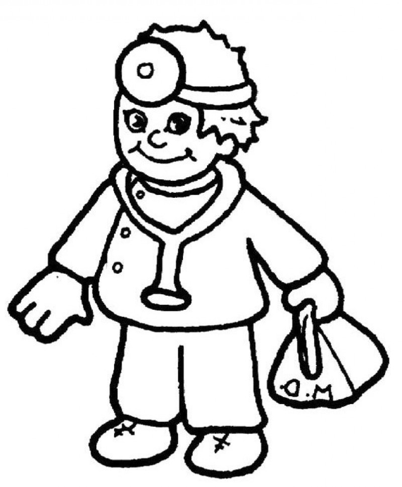 Doctors Hold Bags Coloring Page - Kids Colouring Pages