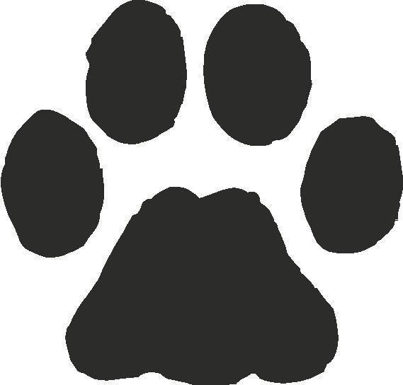 bobcat paw print Jaguar Paw Print Clip Art Paw Print Outline Clip Art