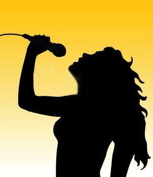 Female Singer Silhouette - Cliparts.co