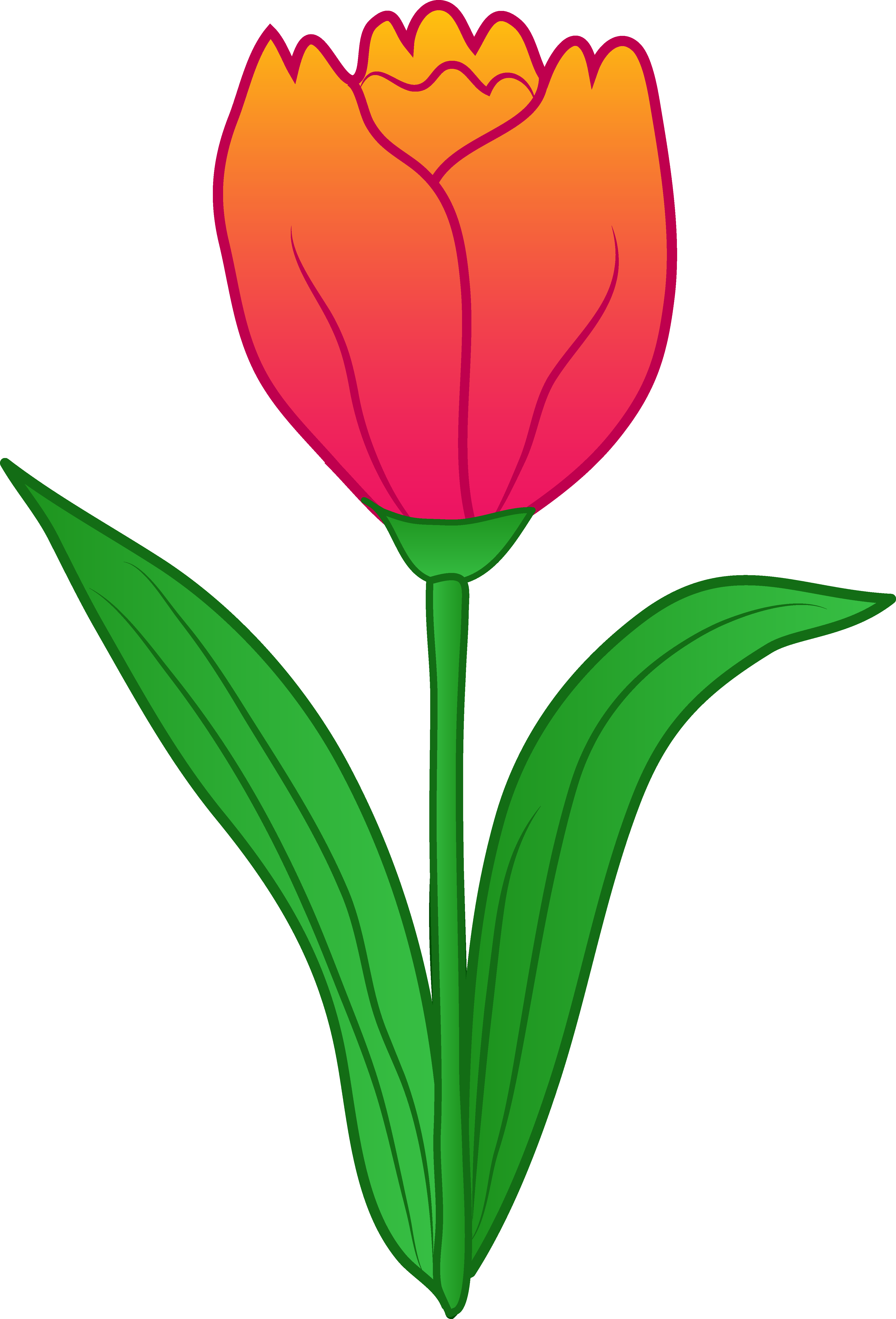 Pix For > Tulip Garden Clip Art