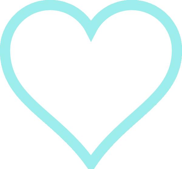 Pale Blue Heart clip art - vector clip art online, royalty free ...