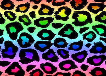 Glitter Graphics the Rainbow Cheetah Wallpaper