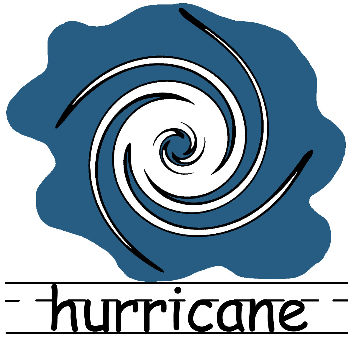 Hurricane Clipart Partly Cloudy Clipart Black