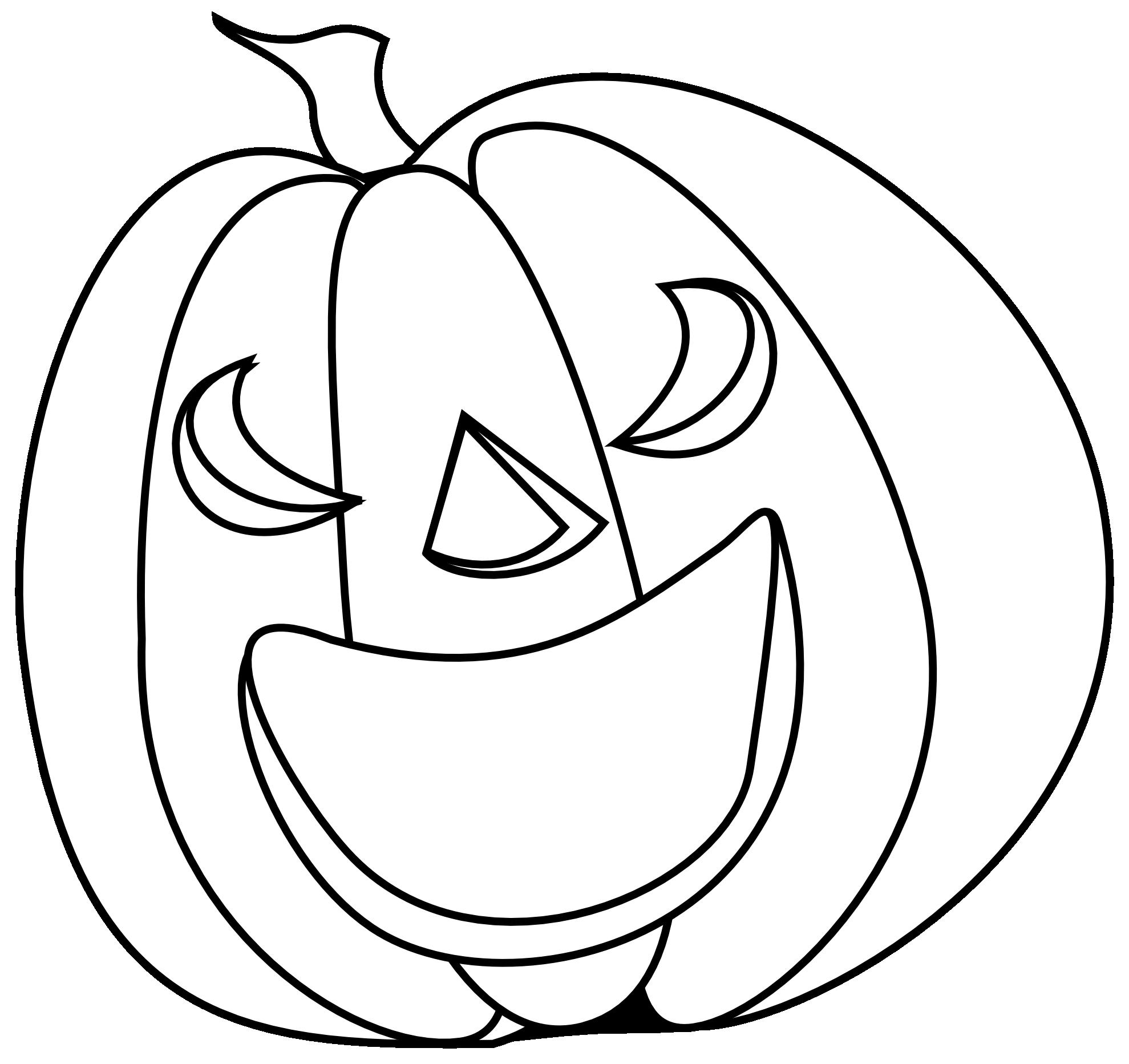 pumpkin clip art free black and white - photo #24