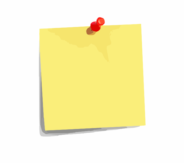 Post It Note clip art - vector clip art online, royalty free ...