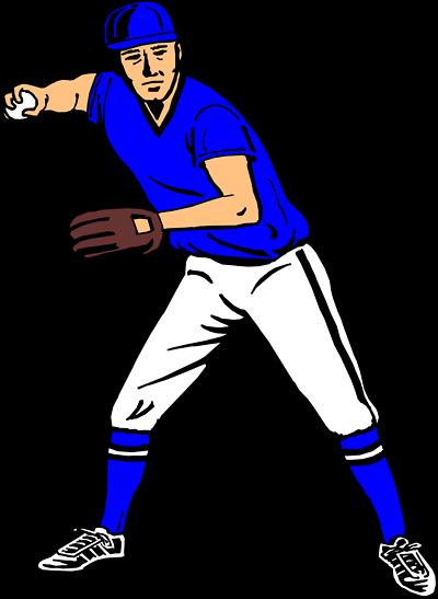 free clipart of baseball players - photo #3
