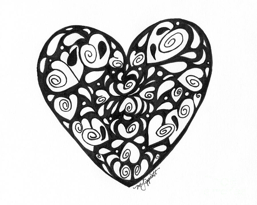 pictures of heart drawings