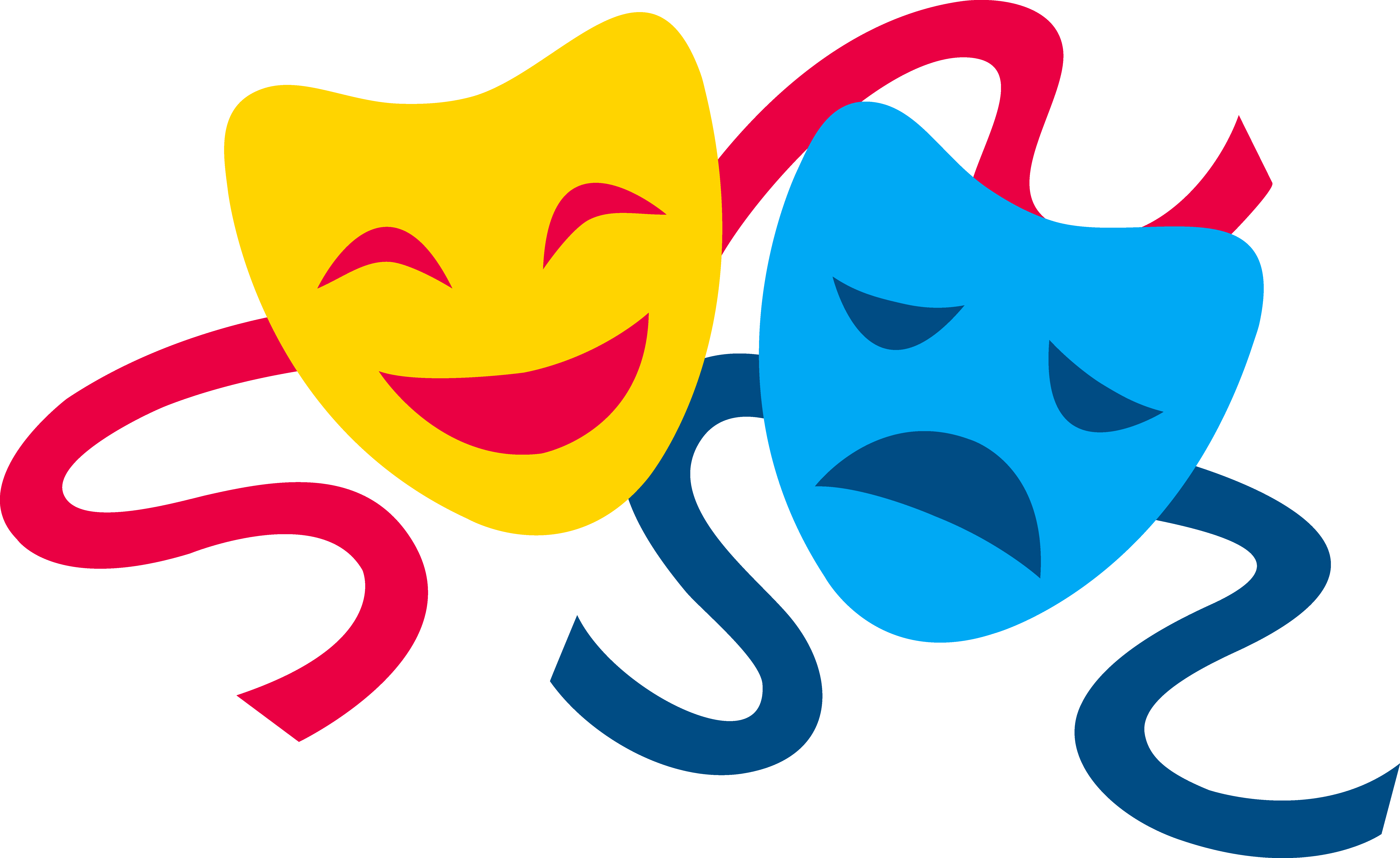 Simple Theatre Masks - ClipArt Best