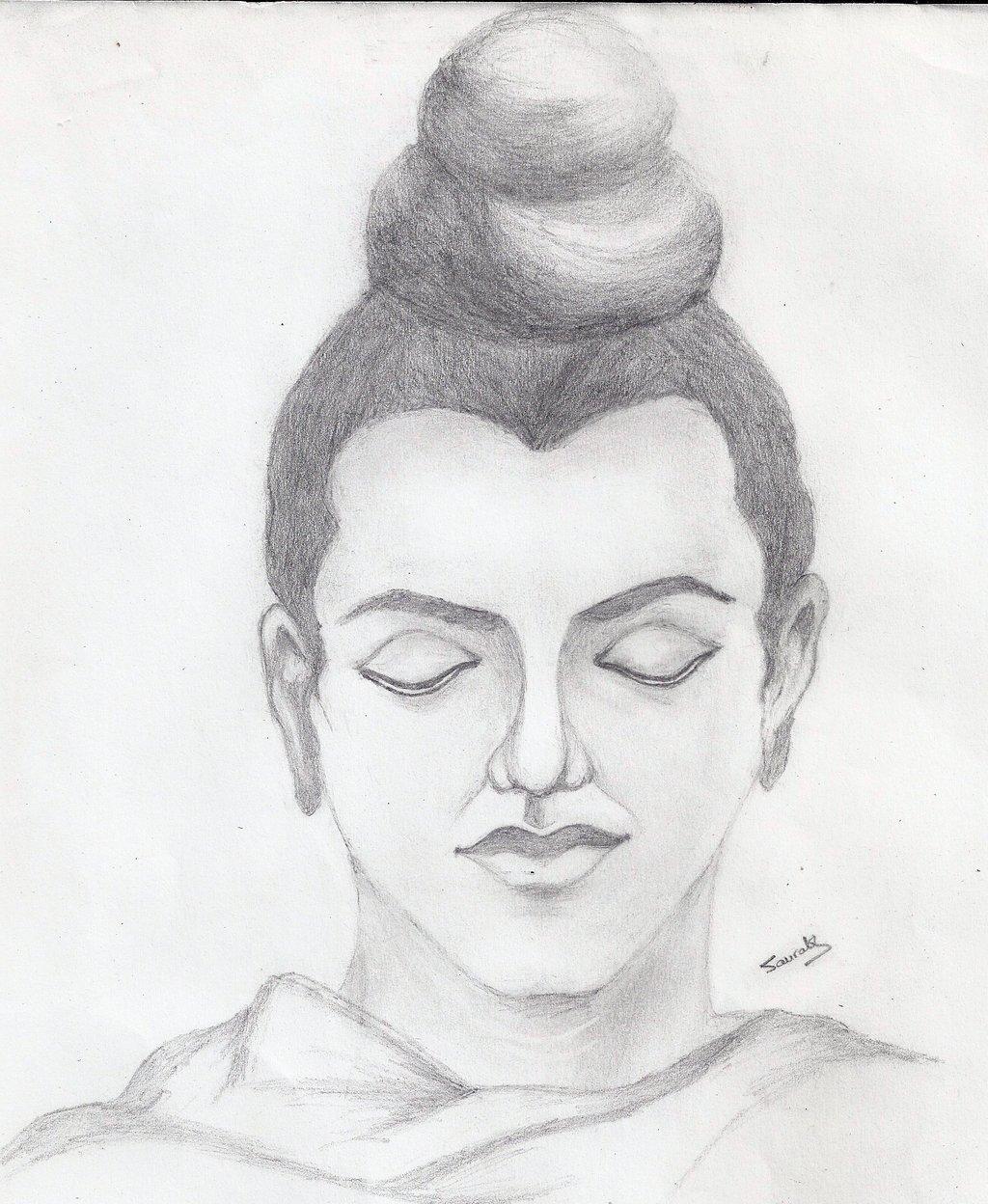 Gautama buddha drawing drawingsomeone com