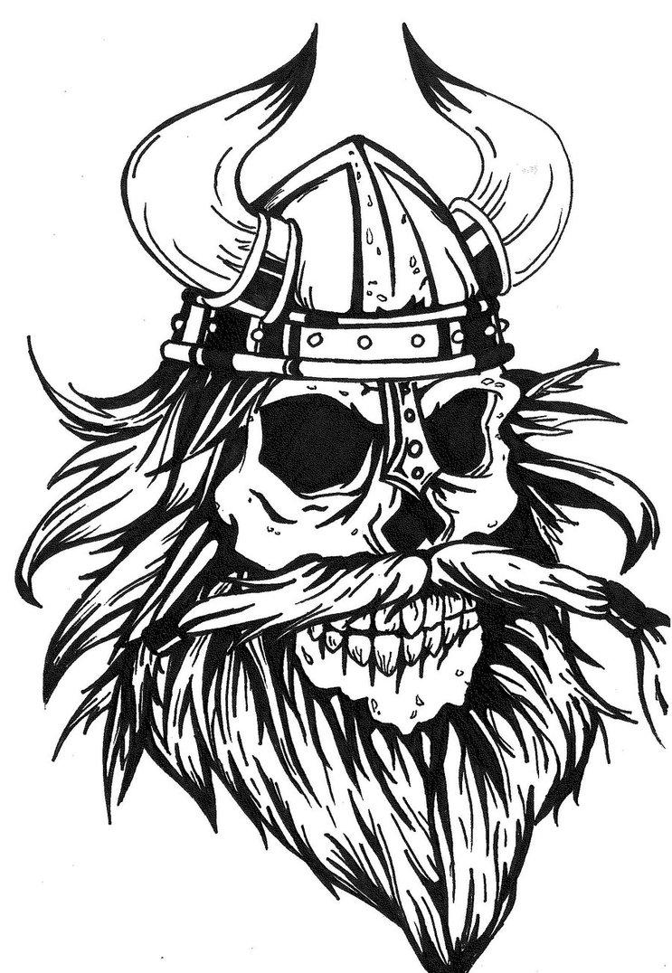 Logo Viking Tengkorak Cliparts
