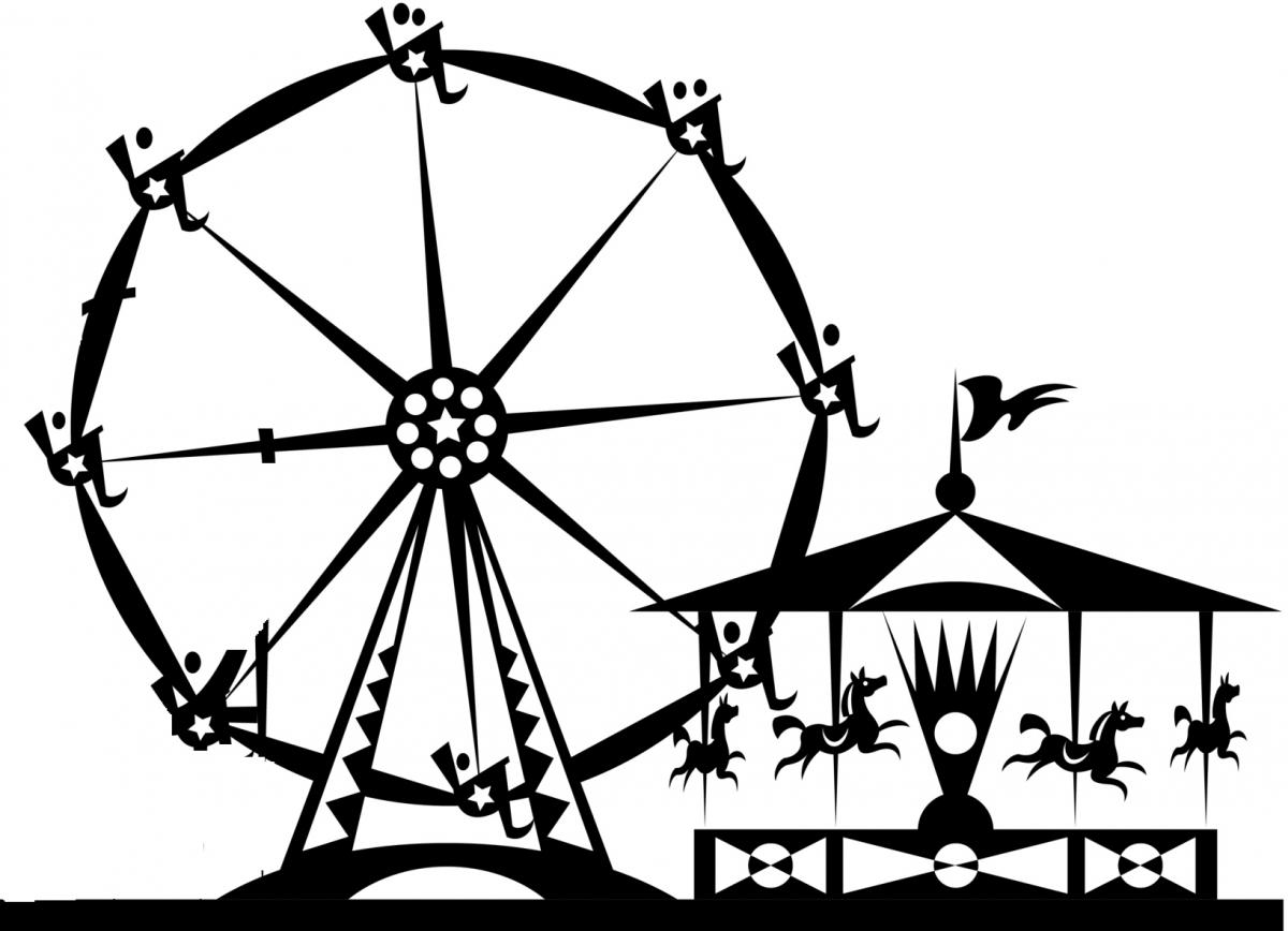 Amusement Park Clipart Black And White - Cliparts.co