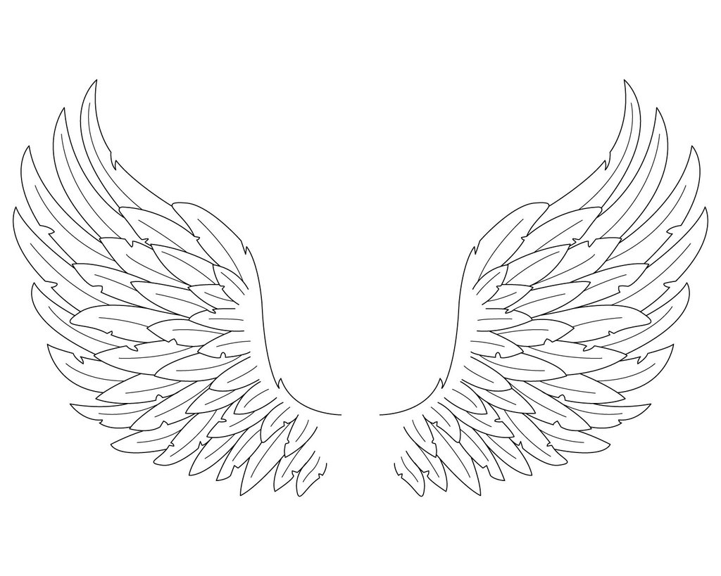 Angel Wings Drawing - Cliparts.co