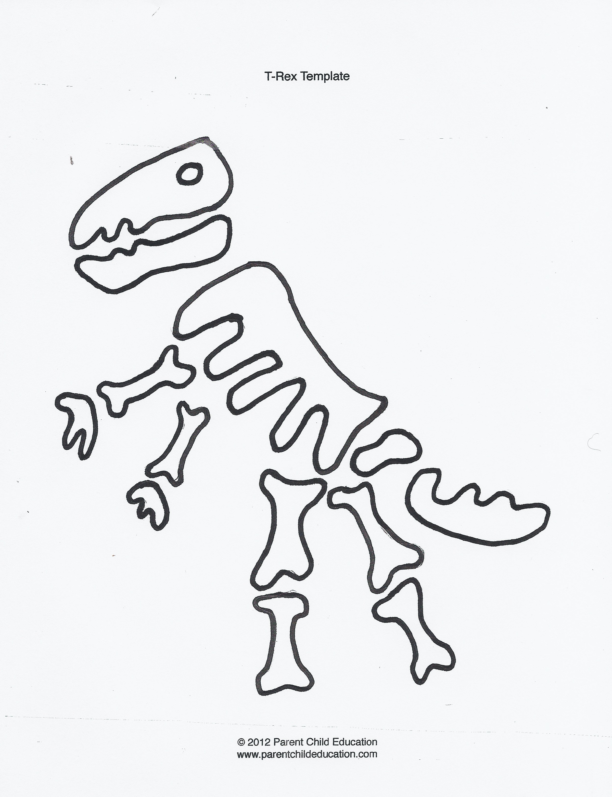 printable dinosaur skeleton template - dinosaur templates