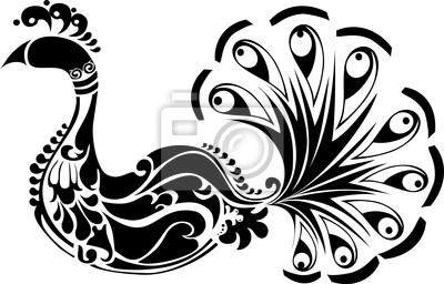 Peacock Black White Images Stock Photos amp Vectors