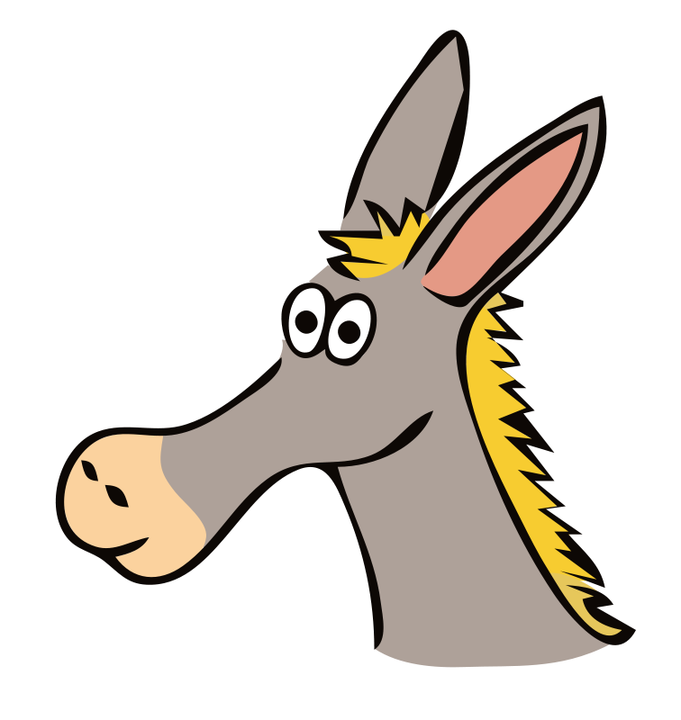 free clipart of a donkey - photo #16