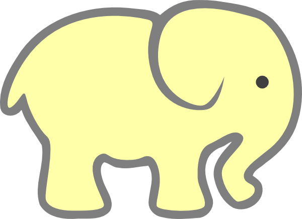 Baby Elephant Stencil - Cliparts.co