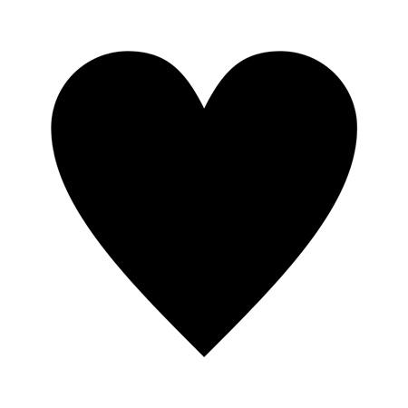 Stencils | Shapes | Heart Shape Template Stencil - stencilease.com