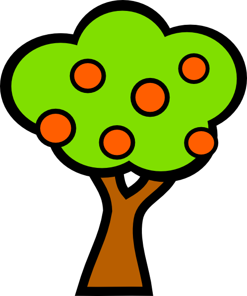 Tree With Fruits clip art - vector clip art online, royalty free ...