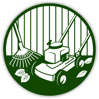 Lawn care clip art for Garden maintenance logo