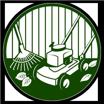 Garden Maintenance Logo Of Lawn Care Clip Art
