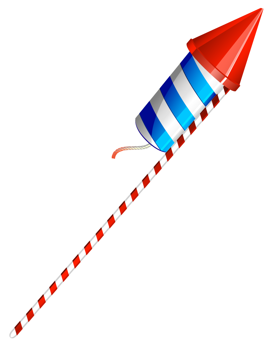 July 4th USA Sparkler PNG Clipart