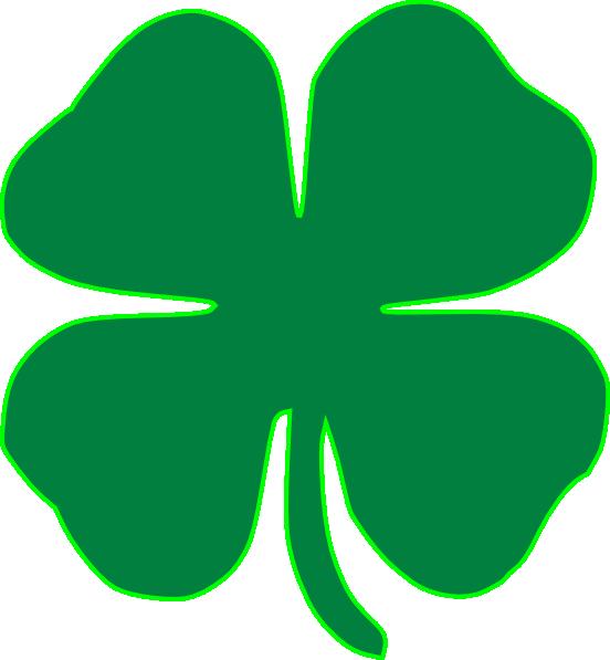 Shamrock Dark Green clip art - vector clip art online, royalty ...