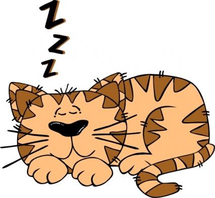 Cartoon cat sleeping clip art download free other vectors