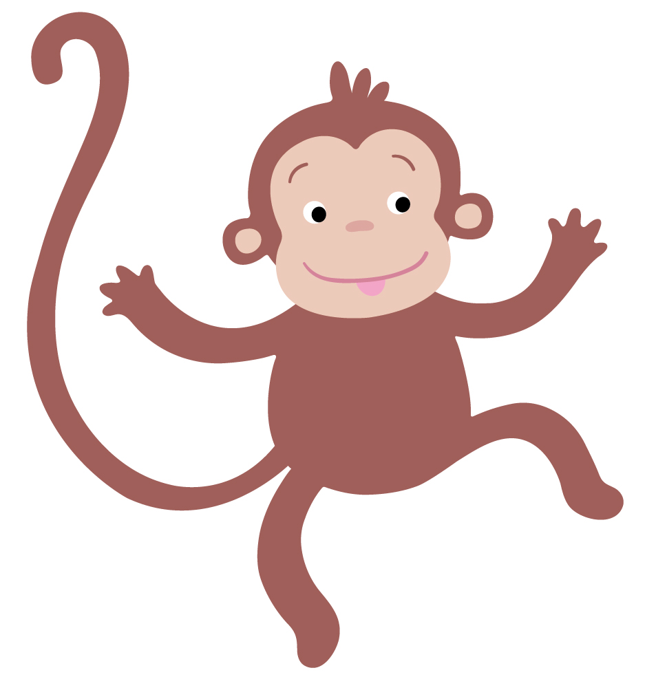 hanging monkey template cliparts co Sock Monkey Clip Art Black and White sock monkey clip art images