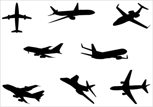 free airplane clipart vector - photo #12