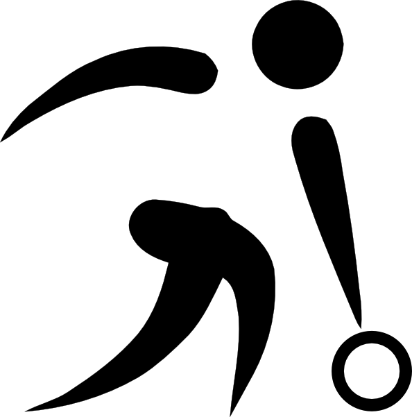 Olympic Sports Bowling Pictogram clip art Free Vector / 4Vector