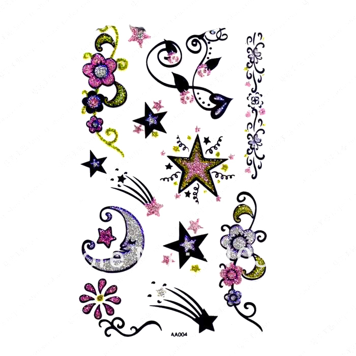 Free ship/5pcs/lot/HM434,sticker tattoos/arm,waist,back,bodyFive ...