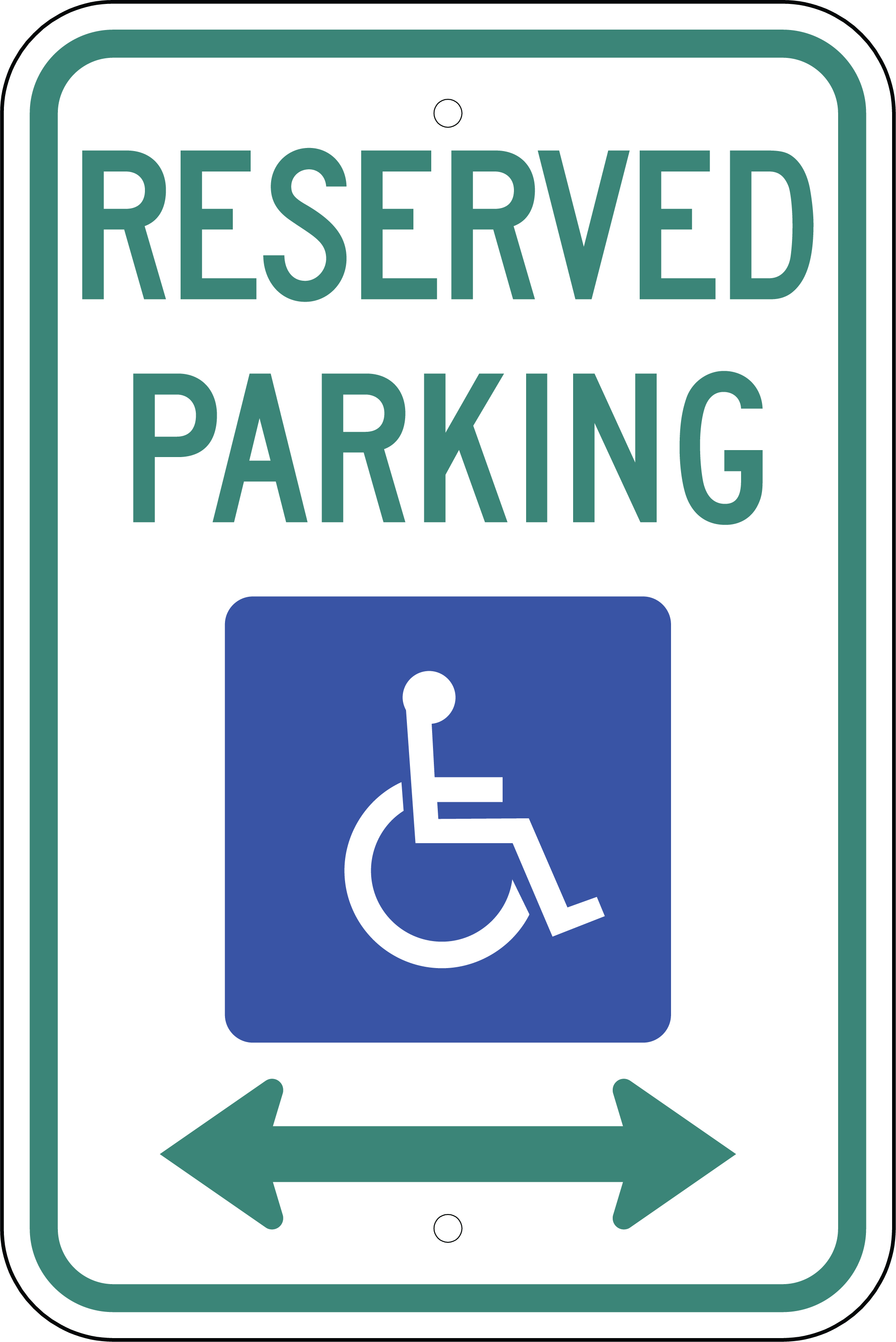 Wild image within printable handicap signs