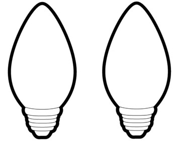 Christmas Light Bulb Outline - My Picture Gallery - Cliparts.co