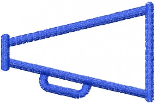 Megaphone Outline Embroidery Design