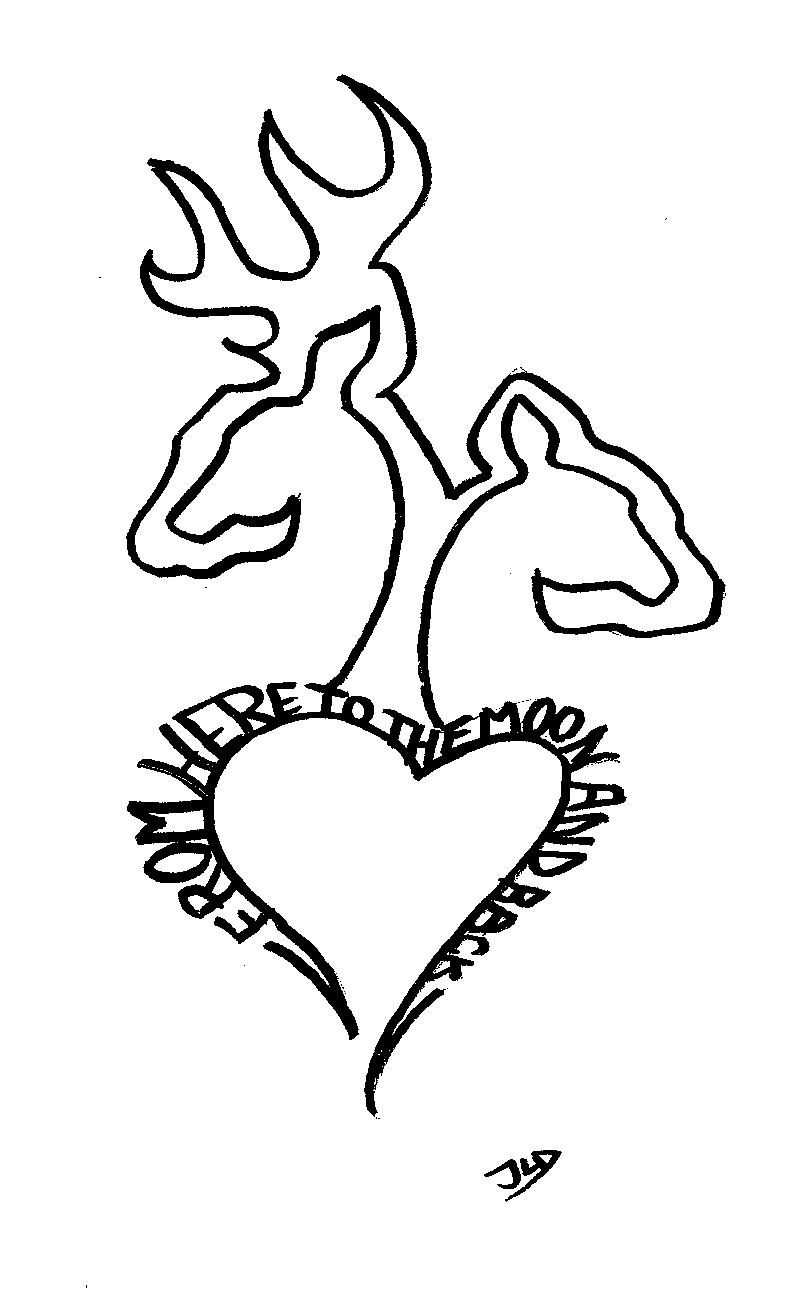 Deer head logo coloring pages