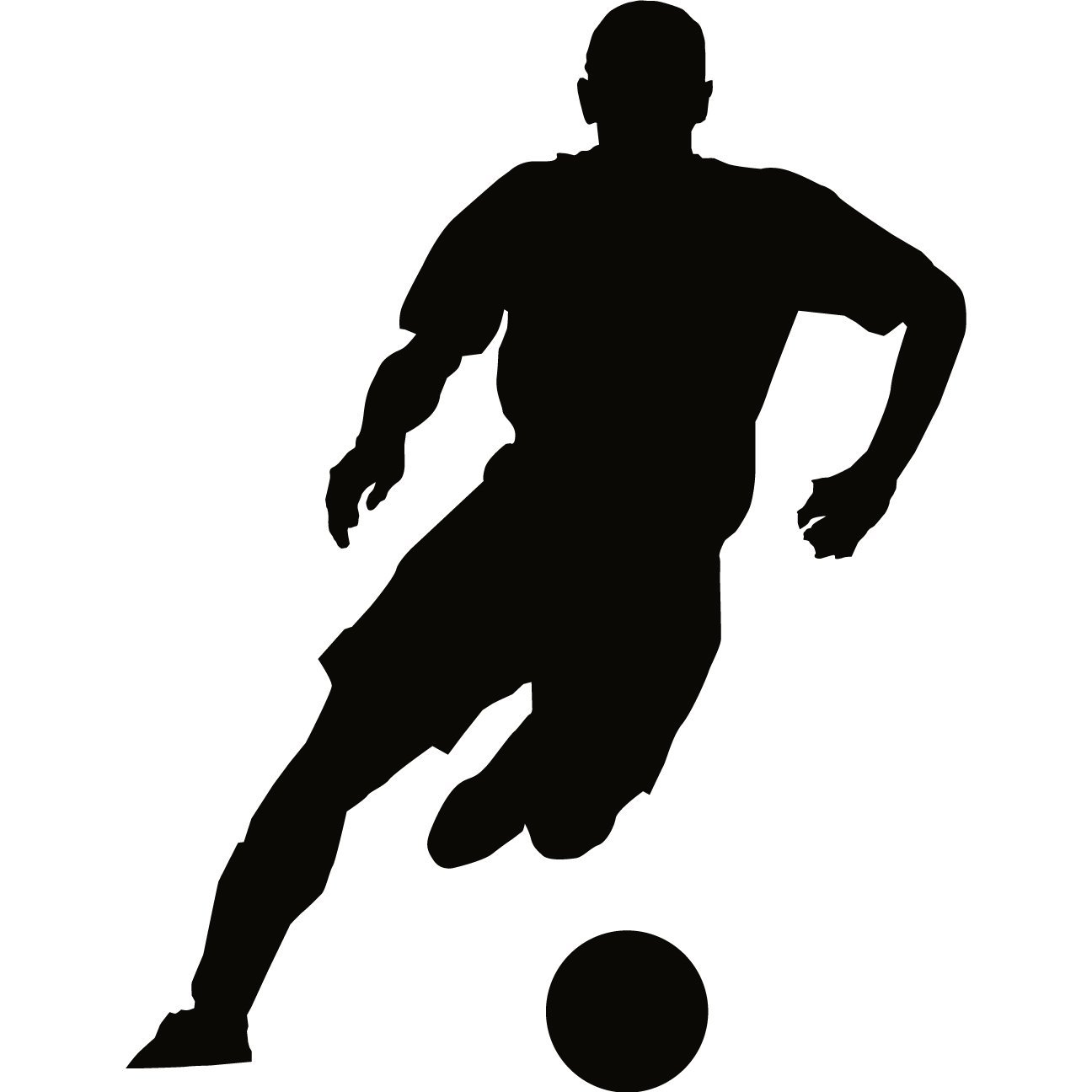 Playing football silhouette