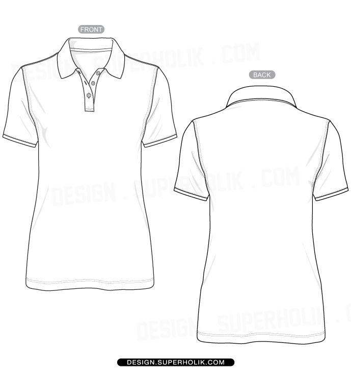 Blank Polo Shirt Template - Cliparts.co