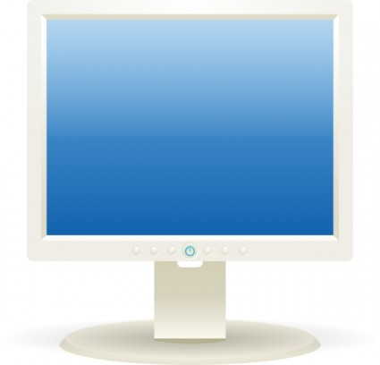 Computer Lcd Monitor clip art Vector clip art - Free vector for ...