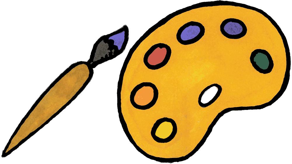 Cartoon Art Pallet Artist Palette Clipart