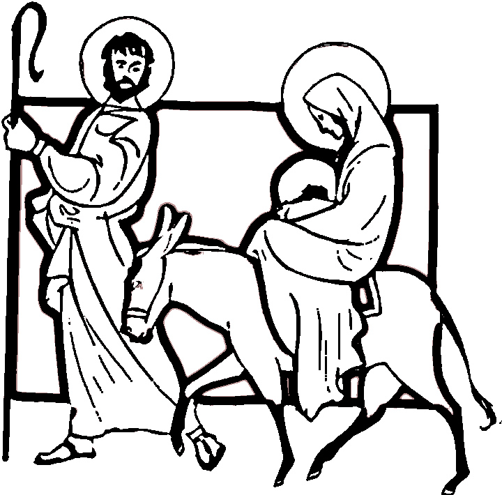 christian nativity coloring pages - photo#16