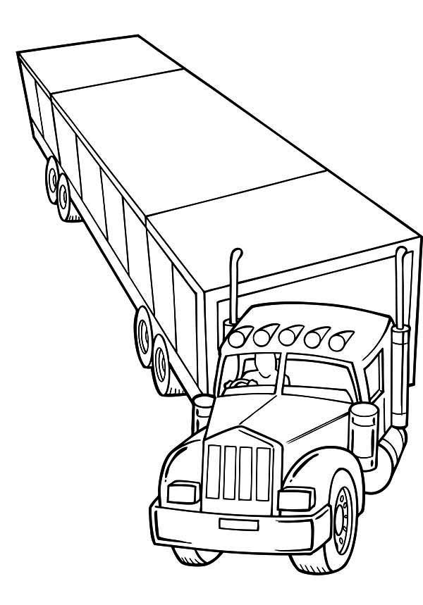 cartoon semi trucks clipartsco