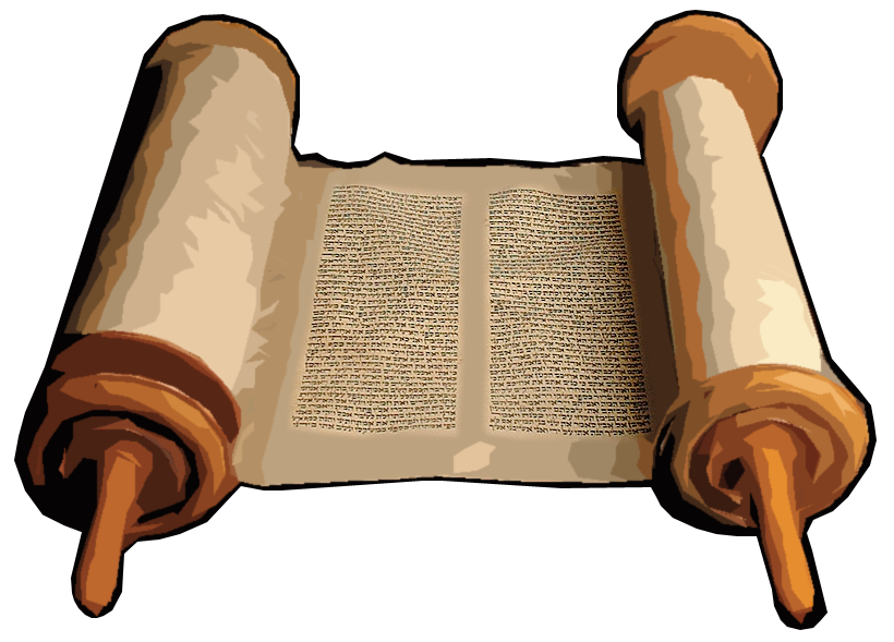 Old Testament Scroll Clipart