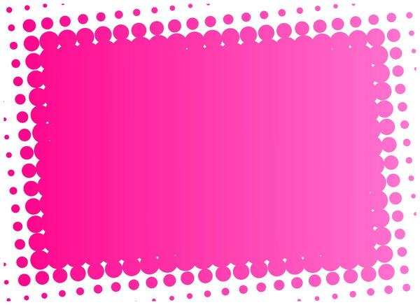 pink and white polka dot wall border